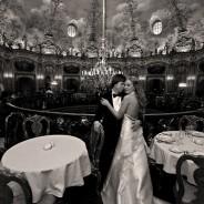 Черно-белая свадебная фотография